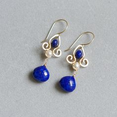 Hey, I found this really awesome Etsy listing at https://www.etsy.com/listing/226993895/dangle-earrings-with-lapis-lazuli-fresh