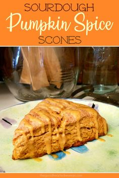 These Pumpkin Spice Sourdough Scones smell like heaven, and they taste even better! 😋 Perfectly delicious ANY time of year! Sourdough Pancakes, Sourdough Recipes, Sourdough Bread, Bread Recipes, Pumpkin Spice Syrup, Pumpkin Bread, Pumpkin Recipes, Fall Recipes, Coffee Recipes