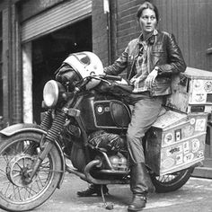 Stoked to live in a world with such strong women. Elspeth Beard is an architect and motorcyclist, who is noted for being the first English woman to ride a motorcycle around the world. #internationalwomensday #soleswithsoul #motorcycle #indosole