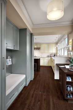 Nice painted cabinetry (except the white/yellow)