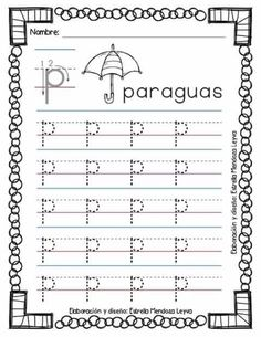 kindergarten letter p writing practice worksheet printable worksheets legacy pinterest. Black Bedroom Furniture Sets. Home Design Ideas
