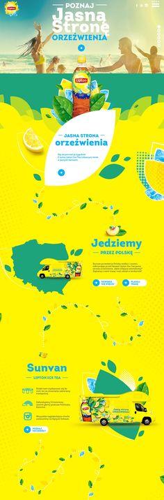 Unique Web Design, Sunvan Lipton Ice Tea #WebDesign #Design (http://www.pinterest.com/aldenchong/)