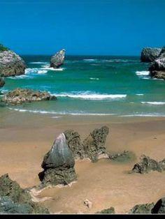 Una playa en Asturias.