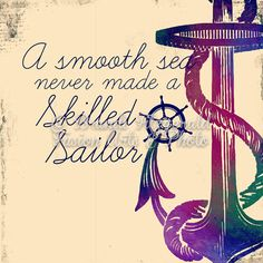 Smooth Sea Skilled Sailor Quote Beach House by BrandiFitzgerald, $17.99