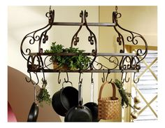 Love my pot rack and my kitchen!