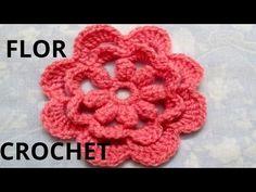 """Flor Crochet Tutorial """"Rosita"""" Aplicación por Maricita Colours - YouTube"""