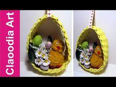 Stroik jajko z papierowej wikliny (Easter egg with a paper wicker, DIY) - YouTube