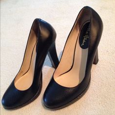 Sale! Black cole Haan heels Size 6 super cute Cole Haan black heels! The heels are embossed with a cute detail! In good condition! Any questions please ask... Cole Haan Shoes Heels