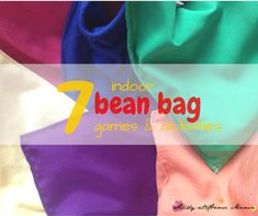Seven indoor bean bag games and activities to keep kids happy, active, and learning. These gross motor activities are perfect for rainy day activities