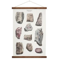 Geology Rocks - canvas poster - vintage educational chart illustration - rock and mineral wall art print ROP2001B by ARMINHO on Etsy https://www.etsy.com/listing/152654283/geology-rocks-canvas-poster-vintage