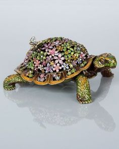 Milton Mille Fiori Turtle Box by Jay Strongwater at Horchow.