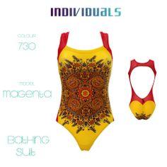 #bathing #suit #yellow #magenta #unique