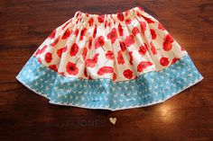 A Spin on our Child's Skirt Tutorial for Sewing BEGINNERS!:)