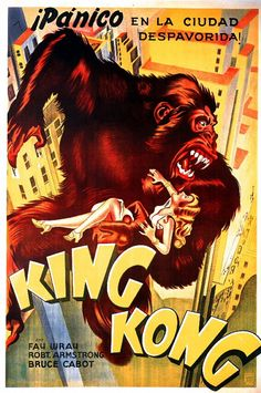 A poster for a re-release of King Kong (1933)