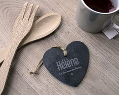Coeur Ardoise à suspendre Maman First Mothers Day Gifts, Personalised Gifts, Unique Gifts, Slate