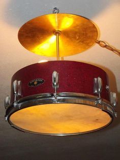 Snare drum & cymbal lighting. Follow us for more wonderful pins at www.pinterest.com/3spurzdandc www.facebook.com/3SpurzDesignsAndCollectables