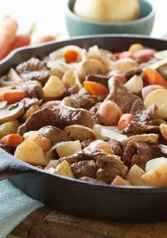 Steak and Potato Stir-Fry – Here's a Sunday entrée all in one quick and easy steak-and-potato stir-fry—and it's a Healthy Living recipe to boot!