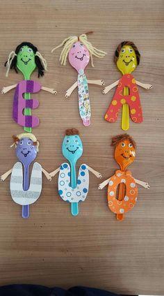Alphabet craft Daycare Crafts, Preschool Crafts, Diy And Crafts, Crafts For Kids, Arts And Crafts, Paper Crafts, Art Drawings For Kids, Art For Kids, Spoon Craft