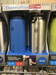 2 pack thermo flask. Double wall vacuum insulated. Stainless steel. $20