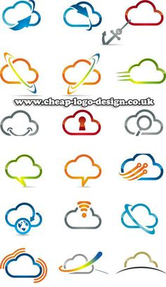 cloud logo ideas www.cheap-logo-design.co.uk #cloud #cloudcomputing #cloudlogo