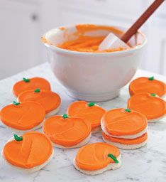 Buttercream Frosted Pumpkin Cookies