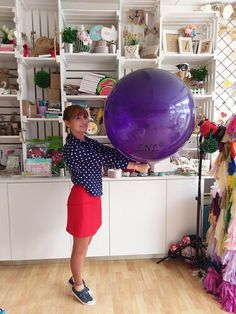 Pack of 6 Purple Balloons Wedding Balloons Round Giant
