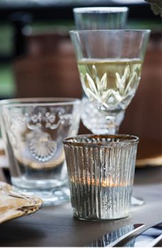 """""""♕ mixed glassware"""" Lovely Clear!"""