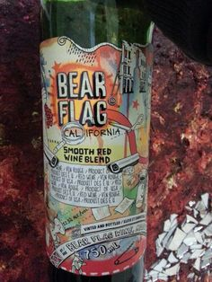 Bear Flag wine Red Wine, Water Bottle, Flag, Wine, Water Flask, Red Wines, Flags