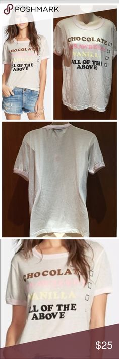 3ca09ea1 Wildfox Ice Cream Sundae All of the above T shirt T shirt is brand new with