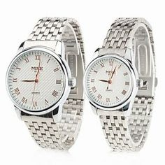 Tanboo Couple Style Unisex Steel Analog Quartz Wrist Watch (Silver) by Tanboo. $69.99. Couple's Watches. Women's, Men's Watche. Casual Watches Feature Water Resistant. Gender:Women's, Men'sMovement:QuartzDisplay:AnalogStyle:Couple's WatchesType:Casual WatchesFeature:Water ResistantBand Material:SteelBand Color:SilverCase Diameter Approx (cm):4Case Thickness Approx (cm):0.8Band Length Approx (cm):19Band Width Approx (cm):2