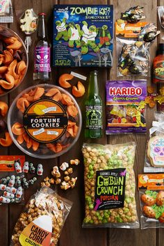 Shop our great selection of Halloween Candy, Chocolates & Ghoulish Treats. Find affordable prices only at World Market! Cute Halloween Food, Teen Halloween Party, Salem Halloween, Halloween Candy Bar, Halloween Movie Night, Halloween Baskets, Halloween Magic, Holidays Halloween, Halloween Treats