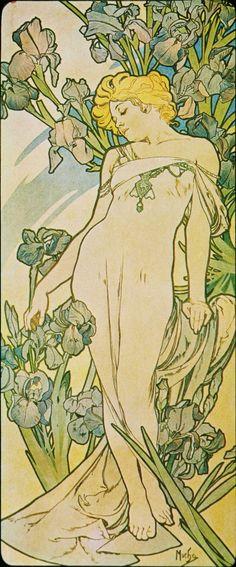 Alfons Mucha. 1898 Iris. The Flowers.......... ......................................................................