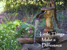 ideas for my old water pump in the yard