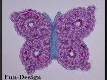Schmetterling, Häkelanleitung
