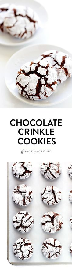 This Chocolate Crinkle Cookies recipe is a classic for a reason! They're eas… This Chocolate Crinkle Cookies recipe is a classic for a reason! They're easy to make, wonderfully sweet and chocolatey, and perfect for the holidays! Chocolate Crinkle Cookies, Chocolate Crinkles, Cake Chocolate, Chocolate Chips, Chocolate Recipes, Chocolate Drizzle, Chocolate Mouse, Chocolate Gifts, Cocoa Cookies