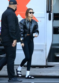 Hailey Bieber spotted out in Los Angeles, California. (October 5, 2021