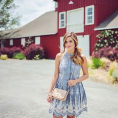 A mix of lace & chambray on galmeetsglam.com today @liketoknow.it www.liketk.it/1rekL #liketkit #ontheblog #lace #chambray #frogsleap Link in profile! - Julia Engel (Gal Meets Glam) (@juliahengel)