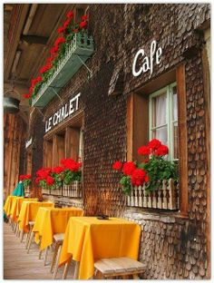 cafe, love the orange and red.
