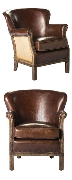 There's nothing quite like the traditional piece of leather furniture—and when it's formed in a chic vintage-inspired mold, all the better. A charming silhouette and tasteful aging make this Hamilton C...  Find the Hamilton Club Chair, as seen in the The Cobbler's Studio Collection at http://dotandbo.com/collections/the-cobblers-studio?utm_source=pinterest&utm_medium=organic&db_sku=117477