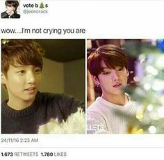My baby is too grown up. Say goodbye to the precious squishy maknae, and please welcome a mature and beautiful Jungkook