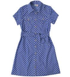 Campshirt Dress, flower navy #missbtween #tweens #preppystyle #girlsdresses