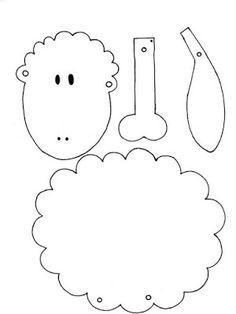 A jumping jack sheep template ostern-basteln-schaf-schablone-h. Kids Crafts, Sheep Crafts, Bible Crafts, Felt Crafts, Easter Crafts, Arts And Crafts, Applique Patterns, Craft Patterns, Felt Patterns