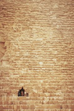 View of three people standing in a hollow space in a Giza pyramid, Cairo, Egypt  Photo by Beboflickr    Egypt <3