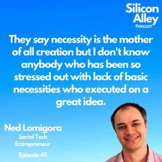 Fantastic insight from Ned Lomigora the Founder of Cape Ann Development. Being too stressed out and without any resources makes it extremely challenging to be a successful innovator. #innovation #innovate #innovator #entrepreneur #necessity #need #business #technology #create #tech #inspire #bootstrap #selffunded #selfmade #ragstoriches #siliconalleypodcast #siliconalley #newyork #techstartup #nedlomigora Personal Finance App, Insightful Quotes, Massachusetts Institute Of Technology, Business Technology, Financial Goals, Stressed Out, Software Development, Cape, Entrepreneur