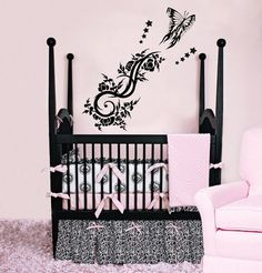 Butterfly Nursery Room Wall Decal Vinyl Sticker Wall by CozyDecal, $15.99