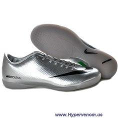 Nike Mercurial Vapor IX IC Silver Black Green Outlet