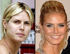 Celebrity with no makeup: Heidi Klum without makeup
