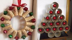 ADORNOS DE NAVIDAD ORIGINALES / DECORACIÓN NAVIDEÑA Diy And Crafts, Christmas Wreaths, Crafty, Holiday Decor, Youtube, Cork, Wine, Ideas, Wreaths