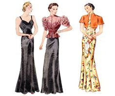 1930s Vintage Sewing Pattern Pictorial Review 8747 Slip and Jacket Size 18 Bust 36 INCOMPLETE
