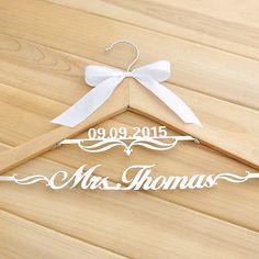 Personalized Wedding Hanger, Custom Name Hanger, Wooden Bride hangers w/date Bride Hanger, Wedding Dress Hanger, Wedding Hangers, Best Wedding Gifts, Wedding Crafts, Our Wedding, Wedding Stuff, Wedding Photos, Dream Wedding